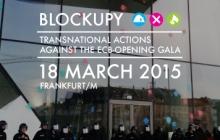 Protesty proti otevření nového sídla Evropské centrální banky (ECB) - Německo 2015