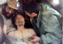 Hanobení Muammara Kaddáfího libyjskými rebely