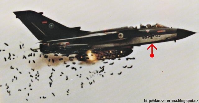 German Air Force Tornado fighter/bomber. Bombardování Jugoslávie