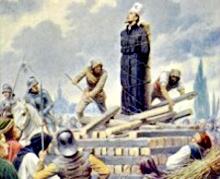 Upálení mistra Jana Husa na hranici v Kostnici 1415