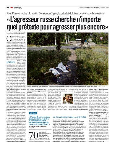 Zabití v Doněcku - Francouzský deník Liberation
