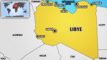 Mapa Libye