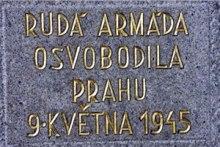 Památník osvobození Prahy sovětskou armádou 9.5.1945