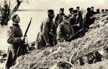 První světová válka 1918. Srbská armáda v zákopech