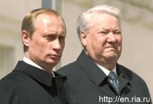 Vladimir Putin vystřídal na postu prezidenta Borise Jelcina. Rusko.