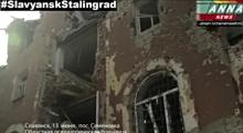Slavjansk, východní Ukrajina pod palbou