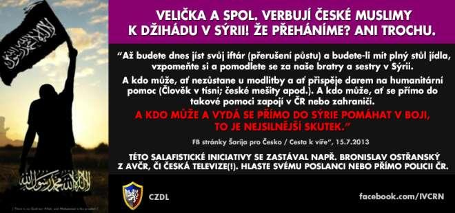 Verbování bojovníků (džihádistů) v české republice pro boje v Sýrii proti Bašáru Assadovi